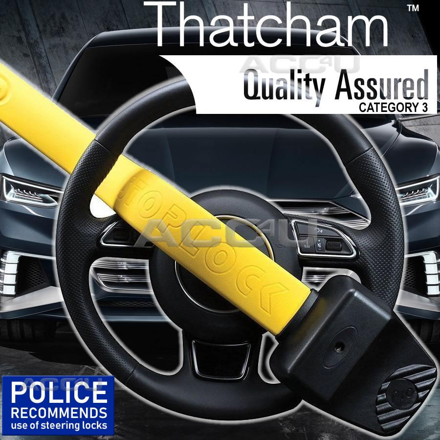 Genuine Stoplock Pro Thatcham 3 Car Van Steering Wheel Security Anti-Theft Lock