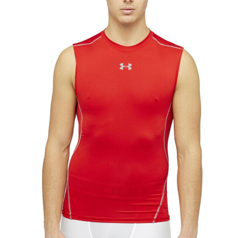 Under Armour UA HeatGear Mens Vanish Seamless Red 1//2 Zip Sports Training Top