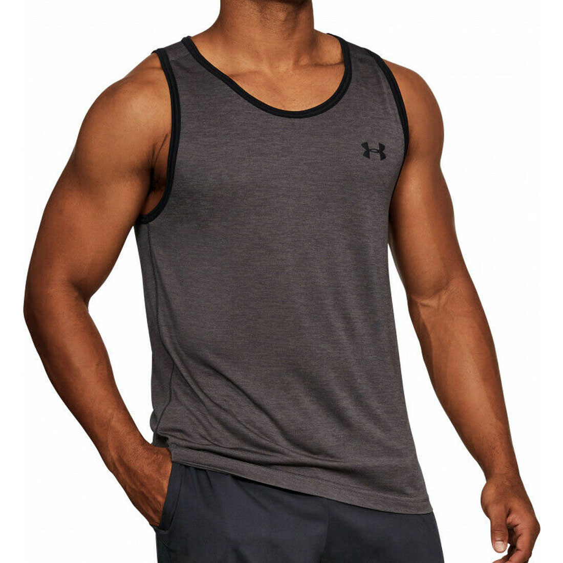 Ecko Unlimited Trailer Mens Vest White Crew Sleeveless Gym Sports Top Small