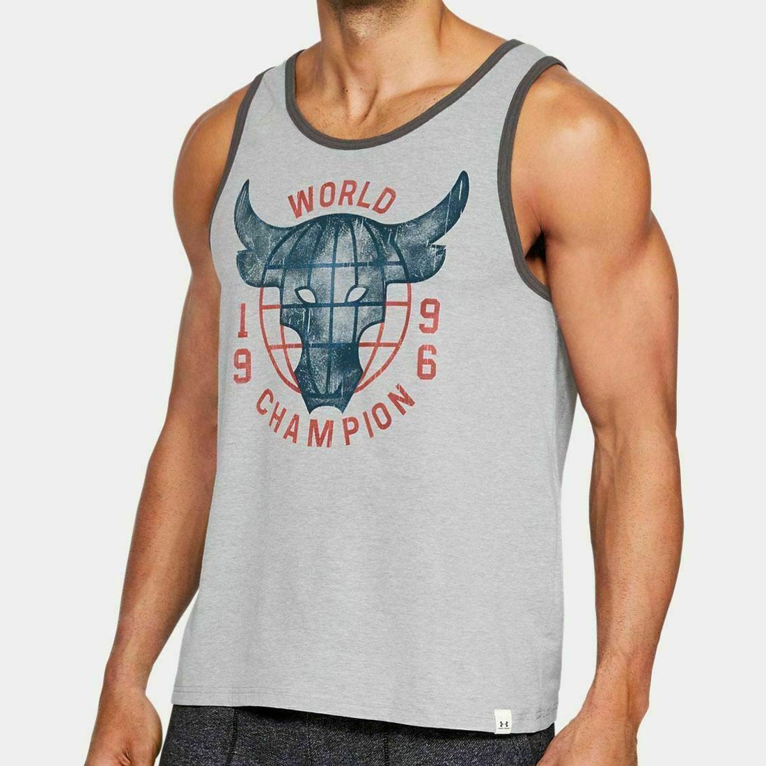 Under Armour UA x Project Rock World Champion Tank Top Men/'s Sz S 1326390-001