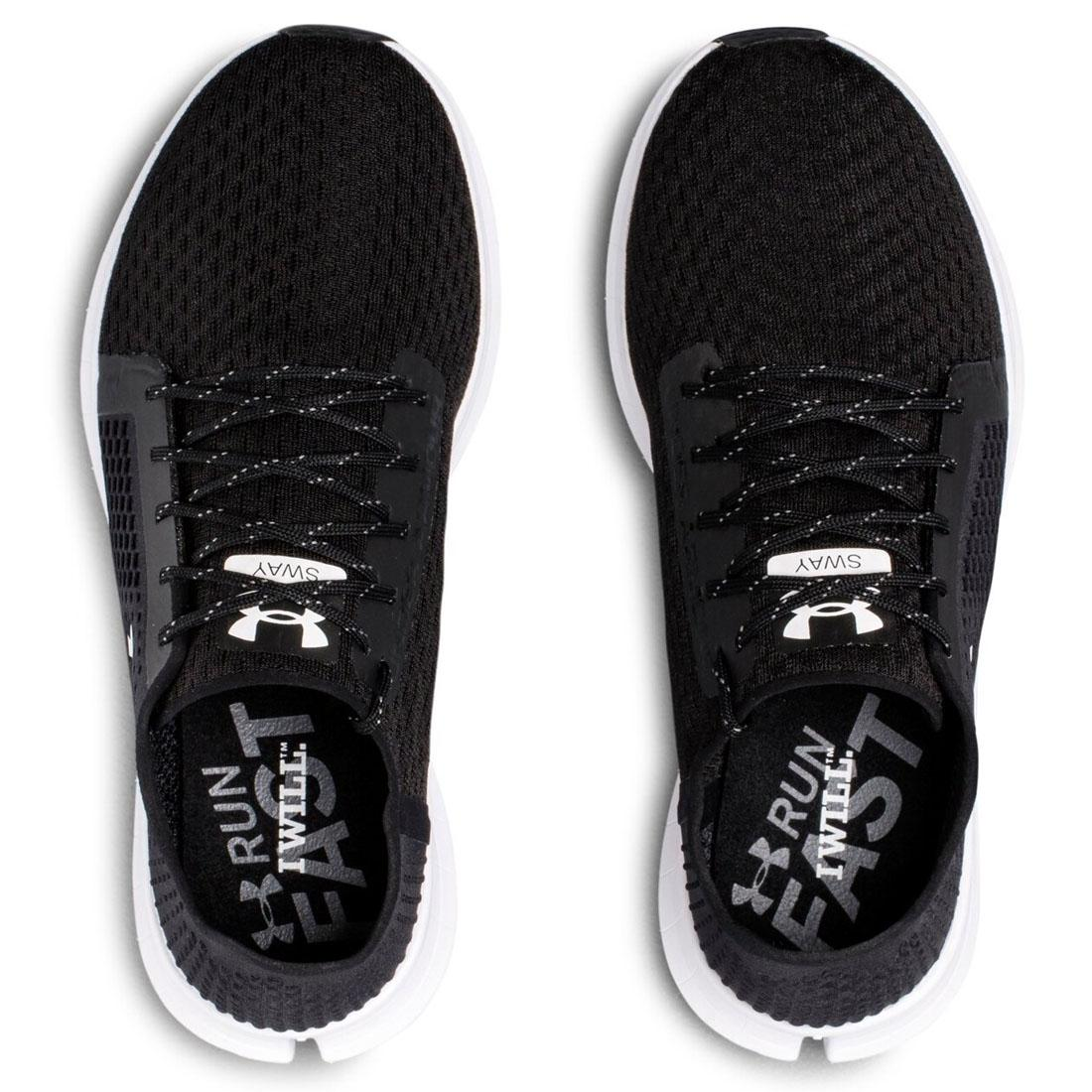 Under Armour UA Womens Sway Ladies Black Trainers Gym Training Running Shoes