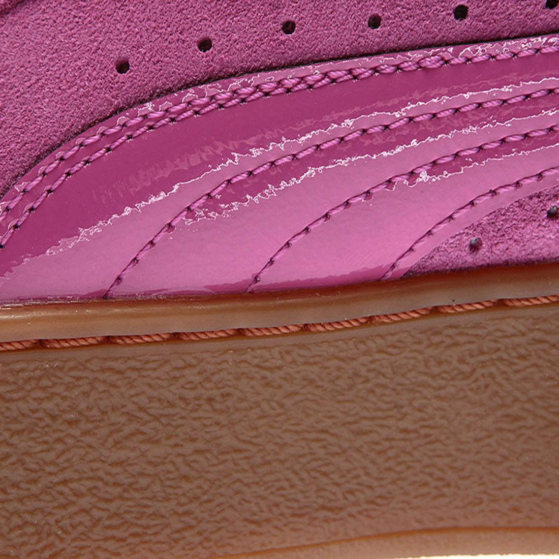 ee64cf86d Puma Vikky Platform Trainers Rose Violet Pink Womens Suede Lace Up Shoes