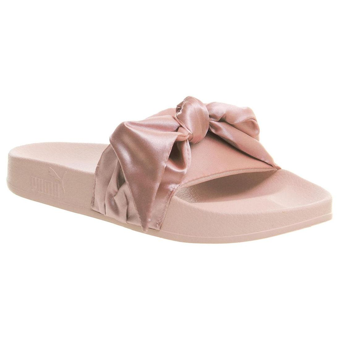 quality design 12c57 9714d Details about PUMA Fenty X By Rihanna Womens Bow Slides Ladies White Pink  365774 02 03