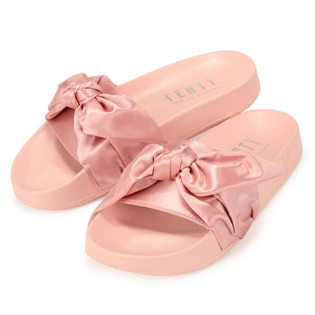 Details about PUMA Fenty X By Rihanna Womens Bow Slides Ladies Pink Silver  365774 03 Size UK 8 0f71d3409