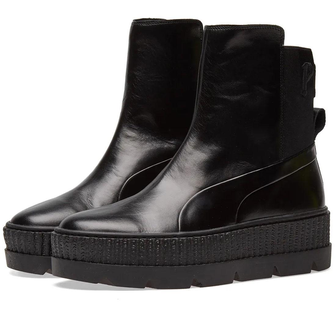 super popular f8374 ee971 Details about PUMA Fenty X Rihanna Chelsea Black Womens Sneaker Ladies  Creeper Platform Boots