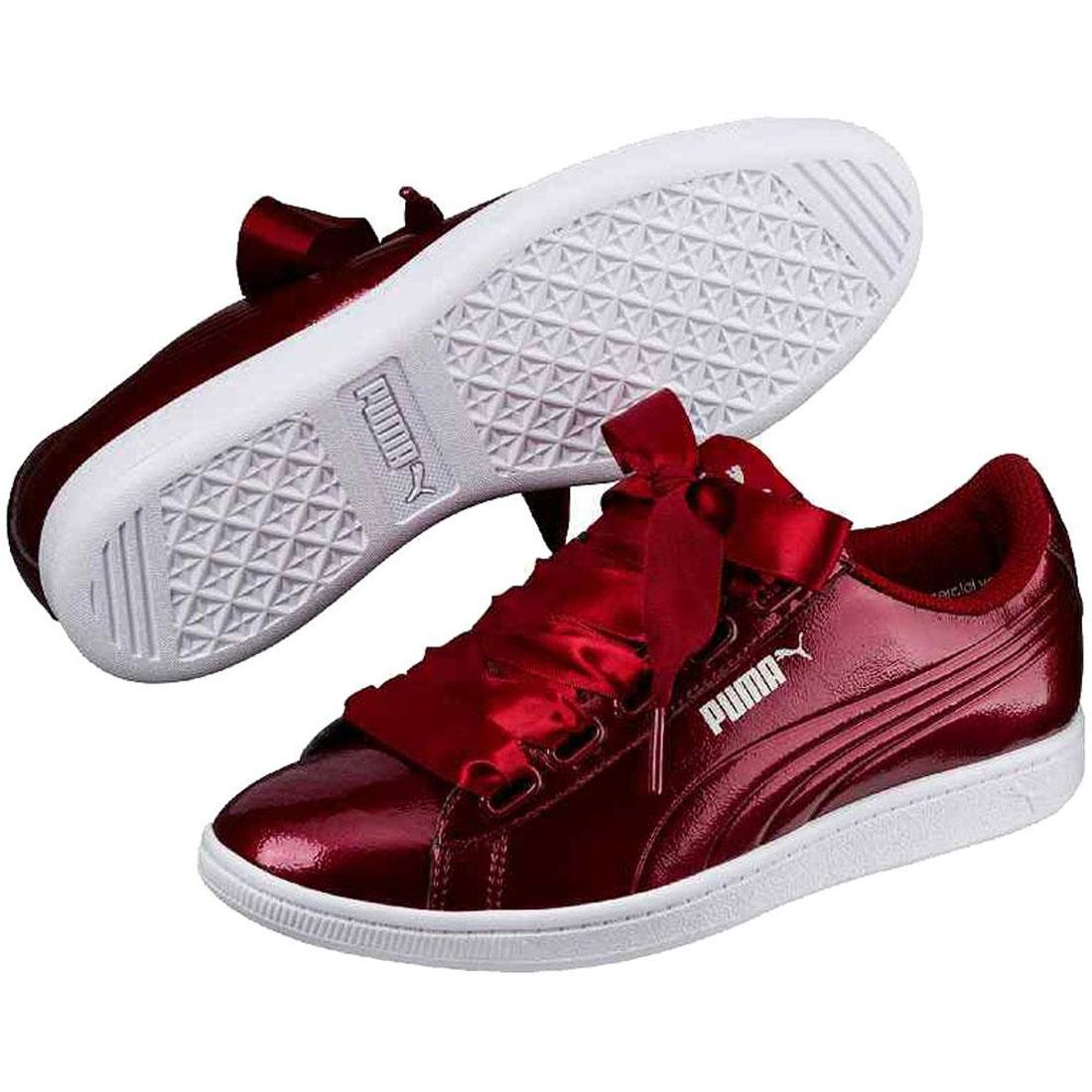 Show Women Vikky Original Ribbon Bordeaux Puma Title Sneakers Basket Shoes About P Red Details EYD2W9IH