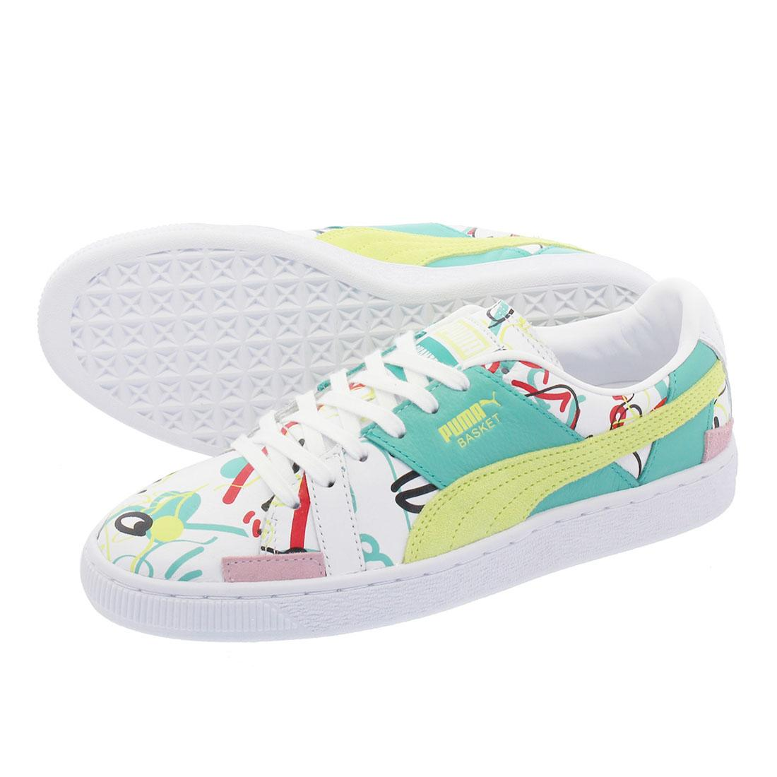 Details about PUMA Basket Shantell Martin Graffiti Graphic Ladies Trainers White Womens Shoes