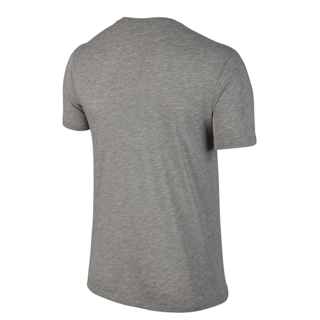 Nike Swoosh Mens Classic Gym T Shirt Cotton Crew Neck White Grey Sports Tee