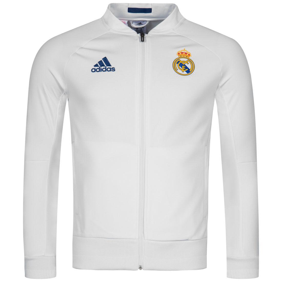 Adidas Real Madrid niños chaqueta blanco formación superior 2016 2017 13-14  años a5298bd536654