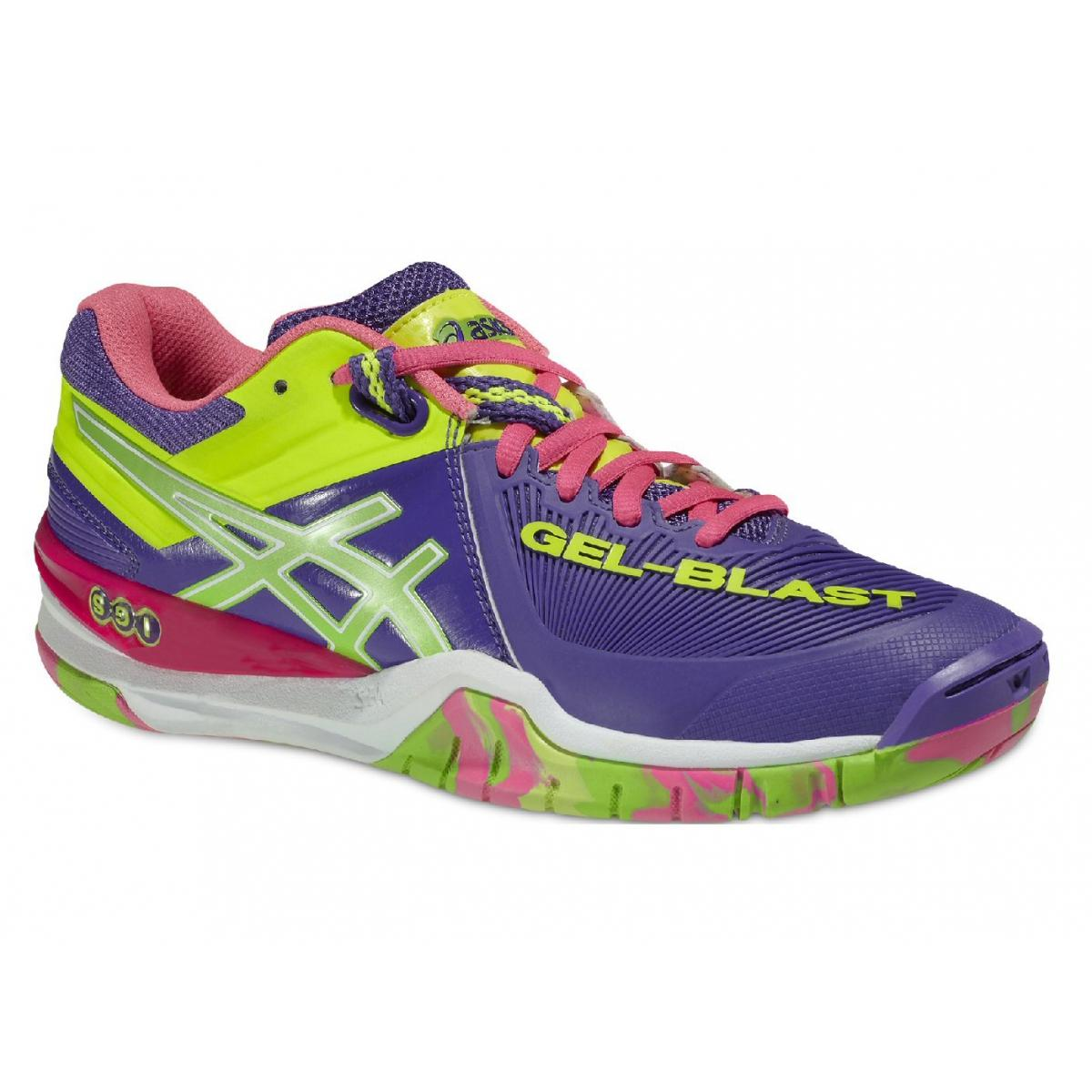 Asics Gel Blast 6 multi colour women's handball indoor court shoe trainers  E463Y