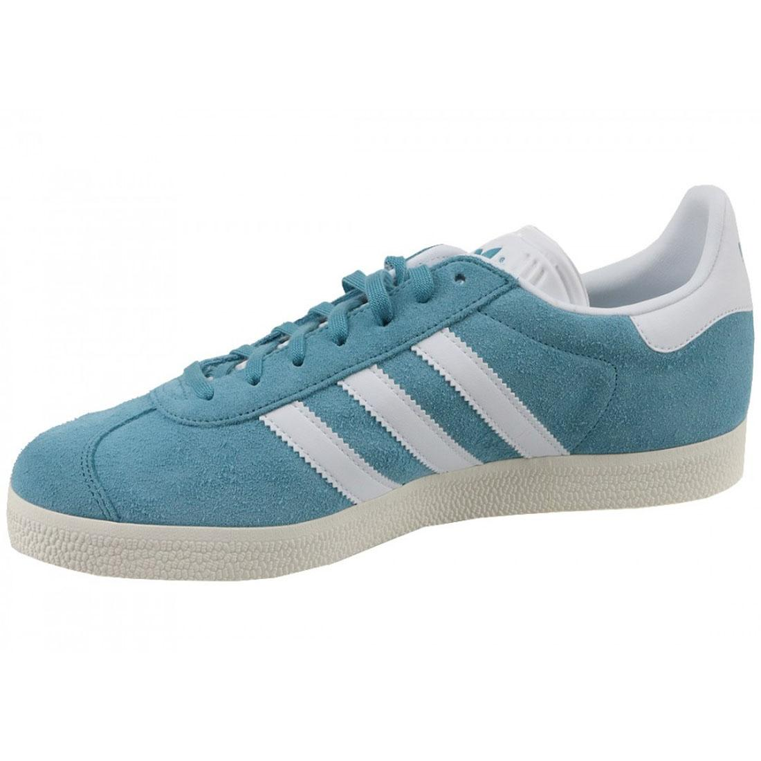 new product 89284 5859f adidas originals Gazelle Trainers Blue White Mens Shoes BZ0022