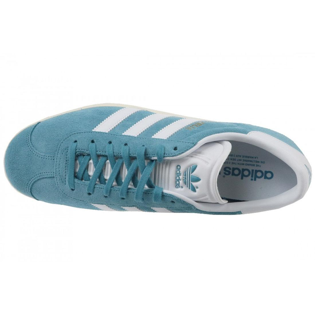 new arrival b1260 00836 Adidas originals Gazelle entrenadores azul blanco para hombre zapatos BZ0022