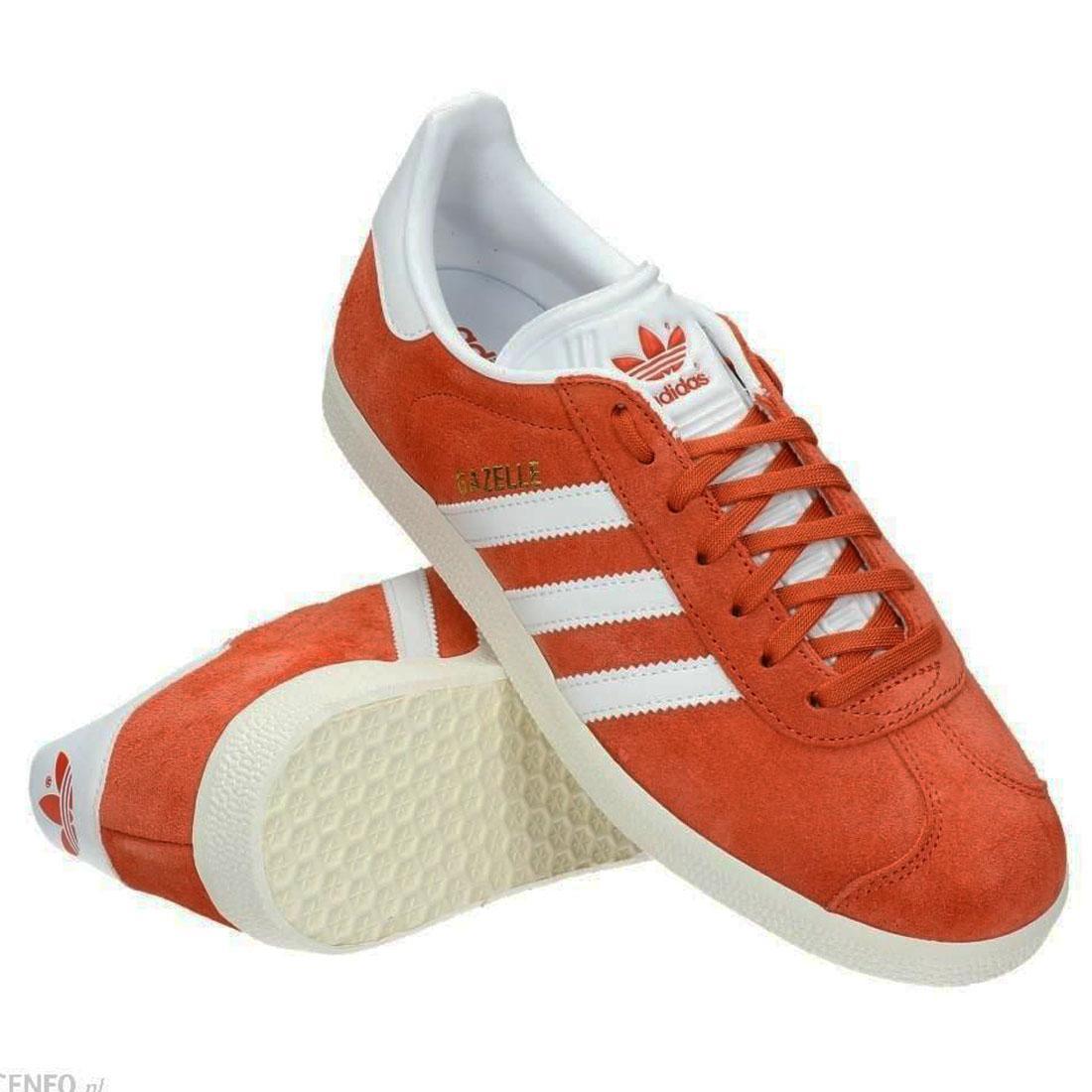best service e1806 f4e30 adidas originals Gazelle Trainers Orange White Mens Shoes BZ0024