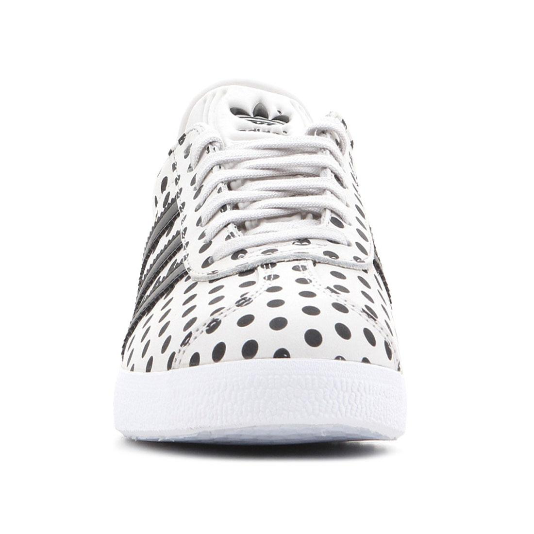 buy online c559d 3a979 adidas originals Gazelle White Black Ladies Trainers Polka Dots Womens Shoes