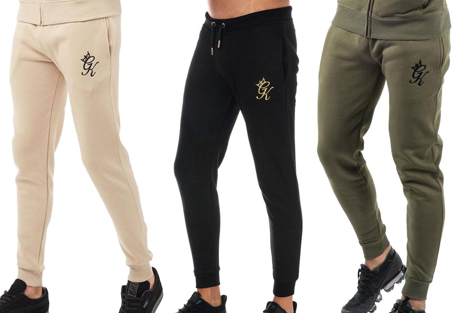 choose latest enjoy clearance price rock-bottom price Details about Gym King GK Mens Joggers Olive Black Gold Tracksuit Bottoms  Sports Track Pants