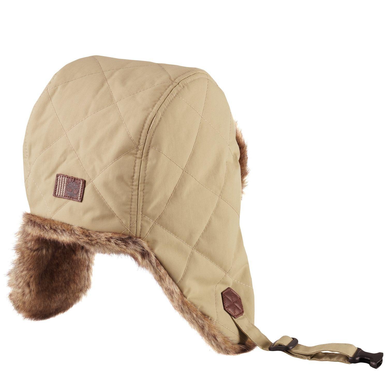 038e63f25cc Timberland Trapper Hat Unisex Nylon Sandstone Winter Fur Strap On Fleece  Size XS