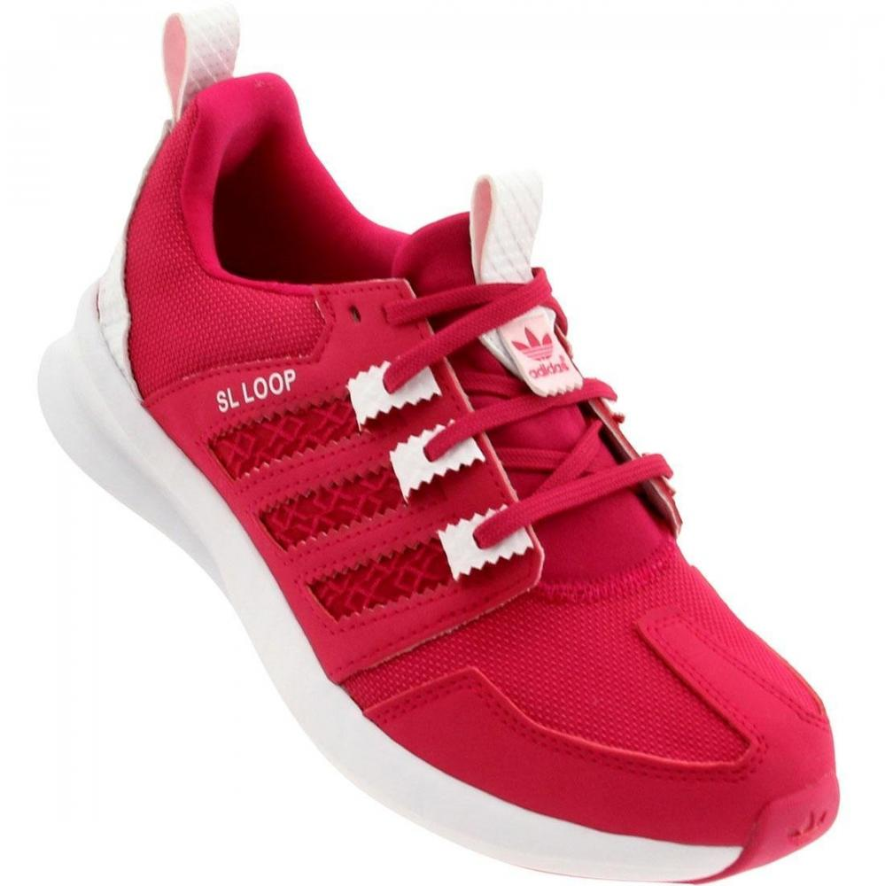 df72dd9f58e8 Details about adidas Pink Girls Running Trainers SL Loop B grade Childrens  Sports Shoes UK 6.5