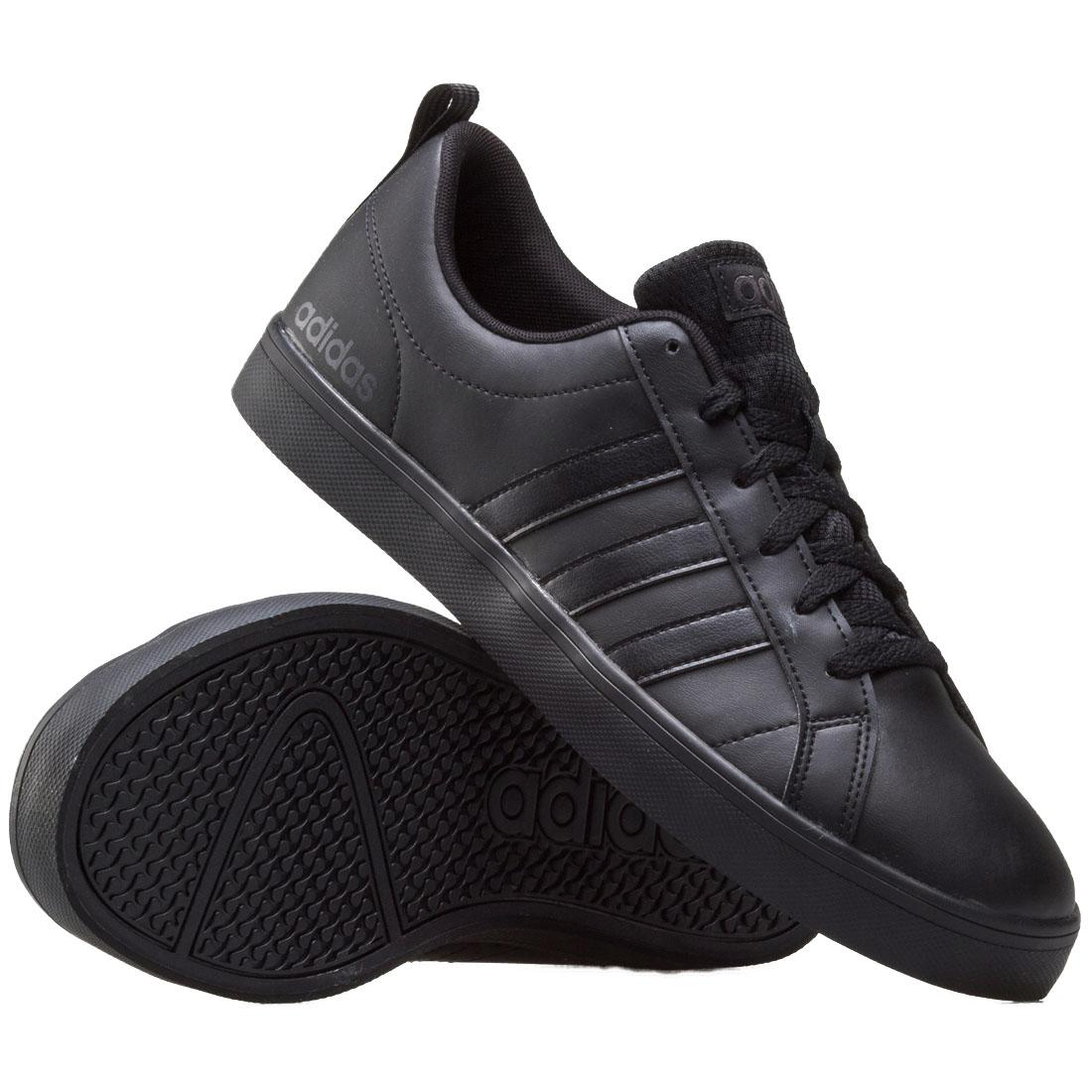 new product 29d7b 9cc18 adidas NEO Pace VS Mens Black Trainers Lace Up Athletic Sports Shoes B44869