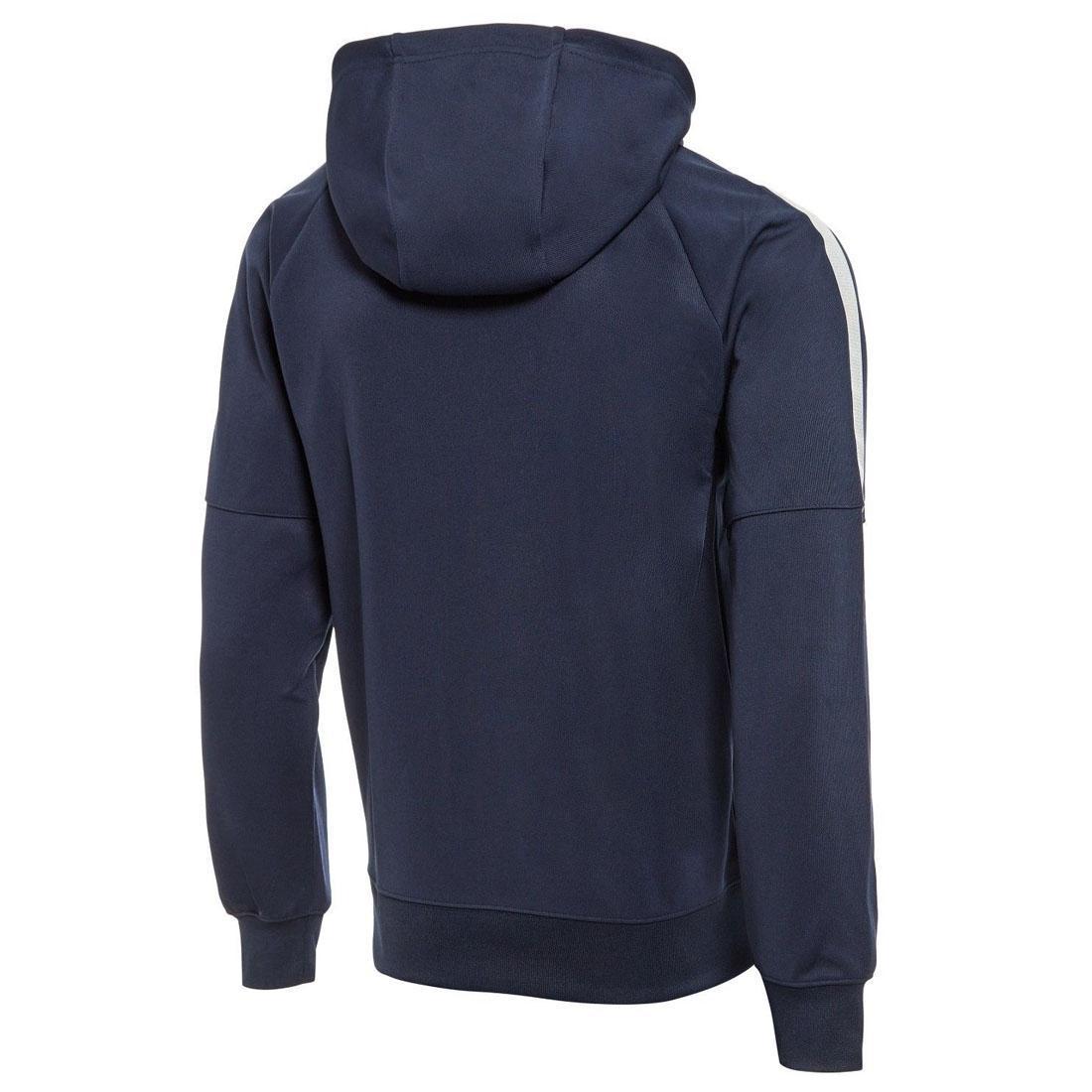 912ccadebc4 Nike Mens Black Blue Tribute Hoodie Full Zip Poly Sweatshirt Sports Track  Jacket