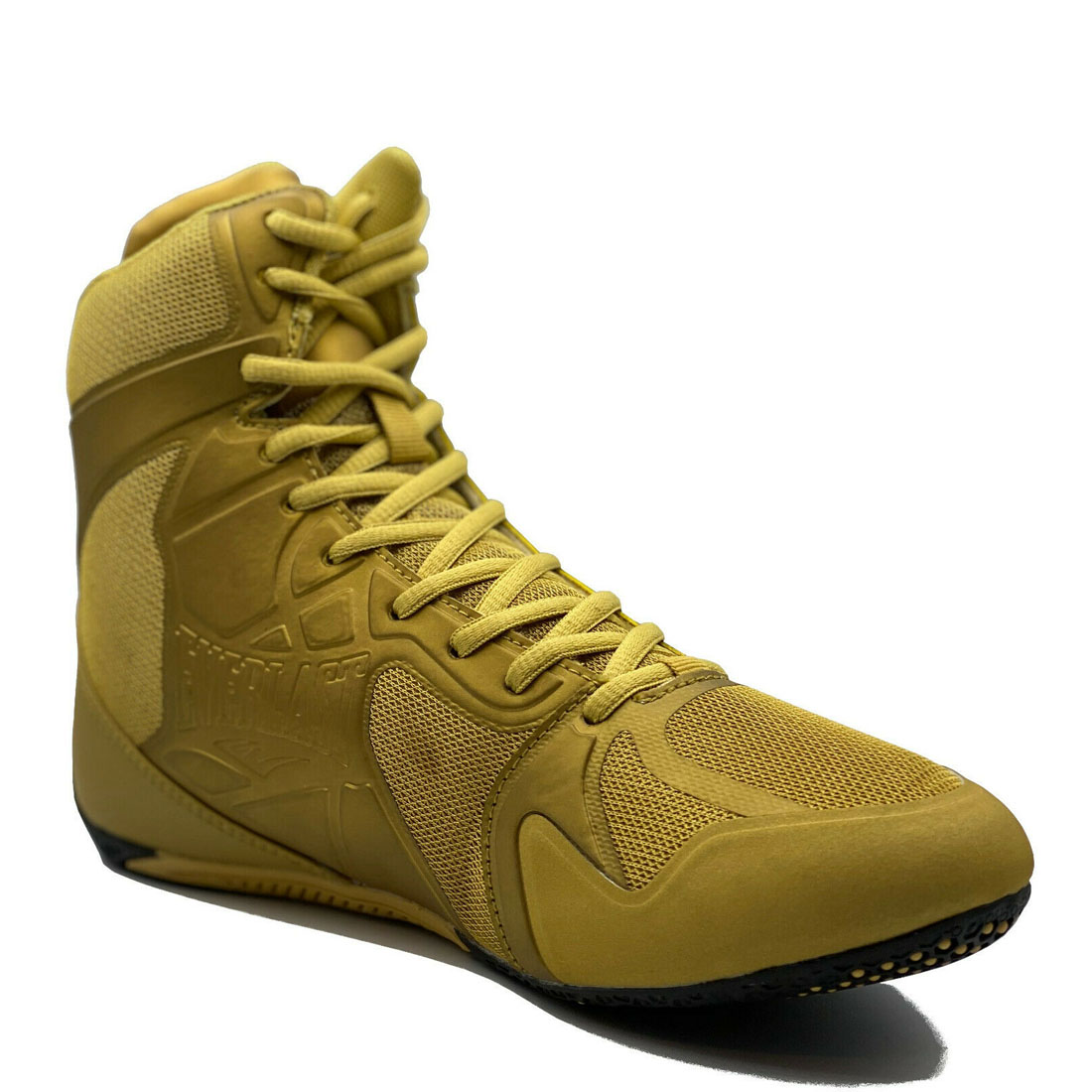 Everlast Hommes Ultimate Pro Chaussures Noir Or Boxe SPORTS Bottes ELM-94E