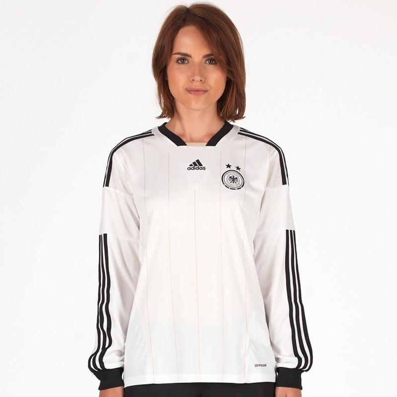 adidas Germany Womens Football Shirt Deutschland Home White Long Sleeved  2015-16 2680e20b9