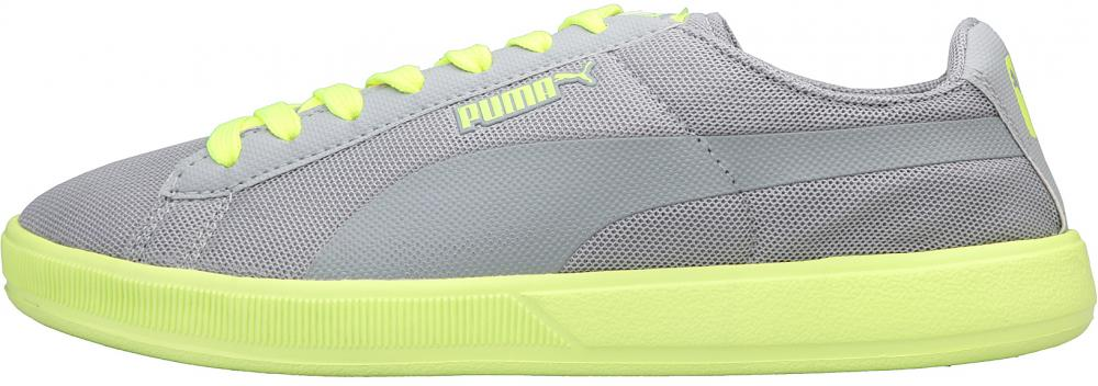 Puma archive lite low ripstop grey yellow mesh rt lace up sports trainers  size UK 8.5