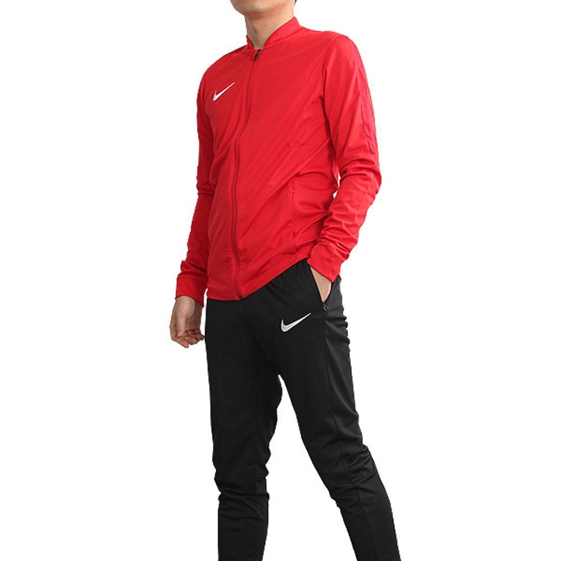 Nike Mens Academy 16 Dri Fit Red Black Football Gym Warm Up Full Tracksuit a7234f6e5f4f