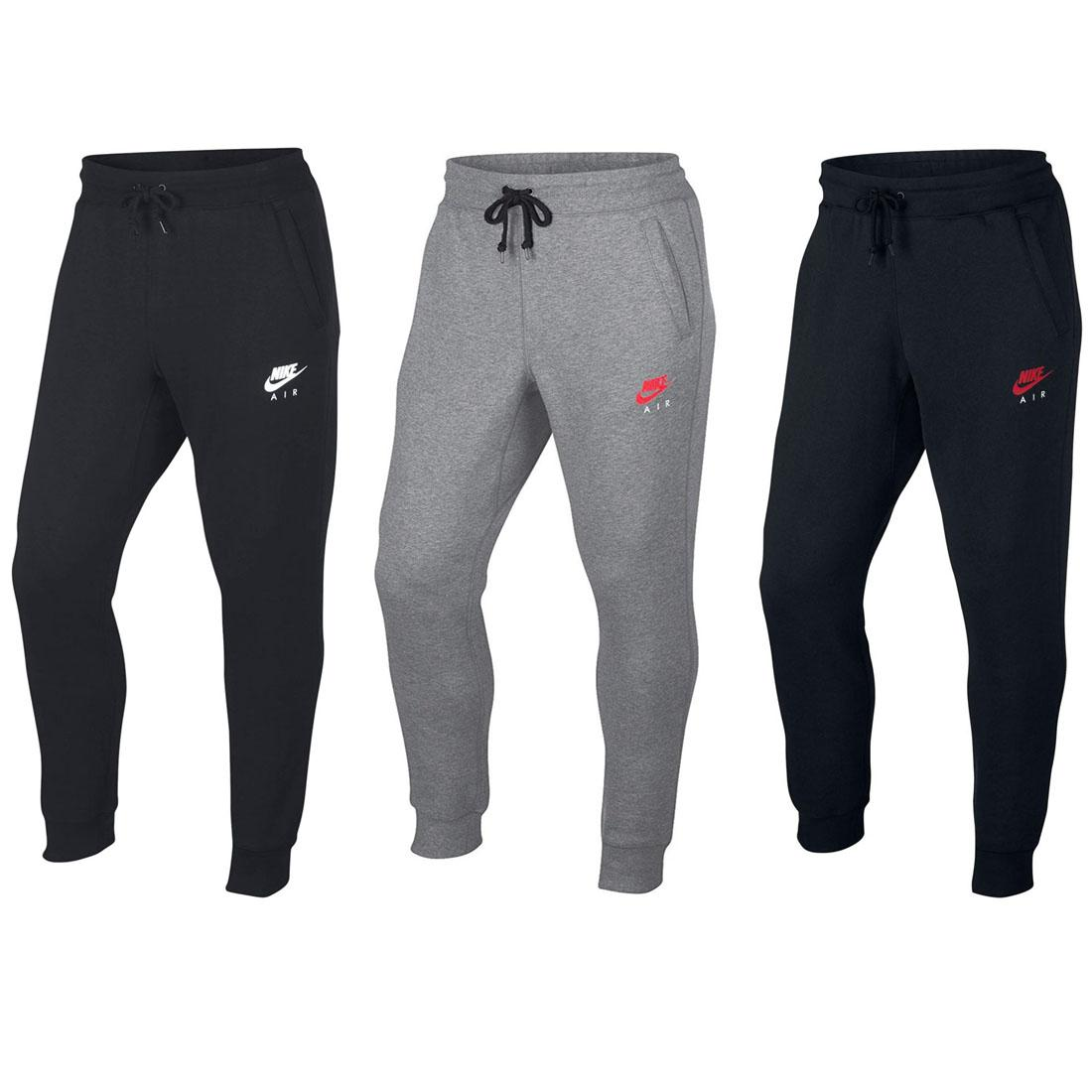 super cheap fresh styles new high quality Details about Nike Air NSW Mens Fleece Pants Black Grey Skinny Joggers Slim  Tracksuit Bottoms