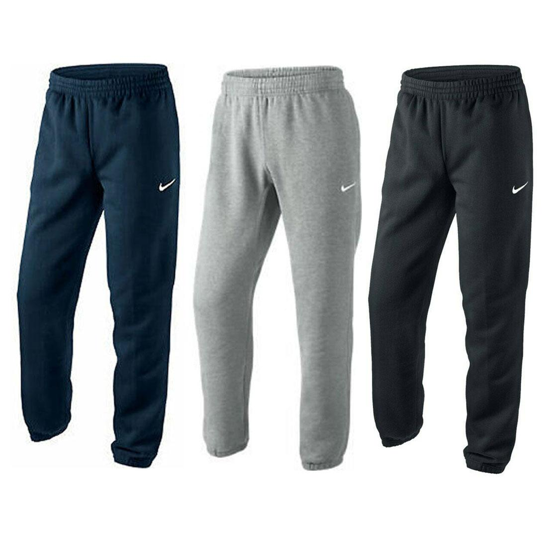 Mens Tracksuit Heavy Fleece Jogging Bottom Gym Sweat Jogger Pants Cuffed Hem