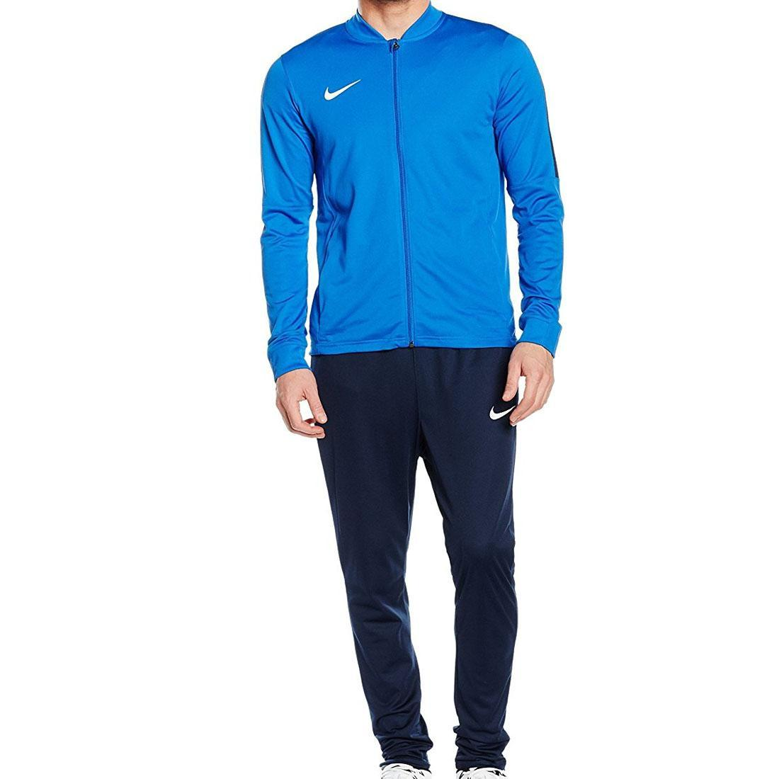 477b9028cd1d Details about Nike Mens Academy 16 Polyester Dri Fit Navy Blue Football Warm  Up Full Tracksuit