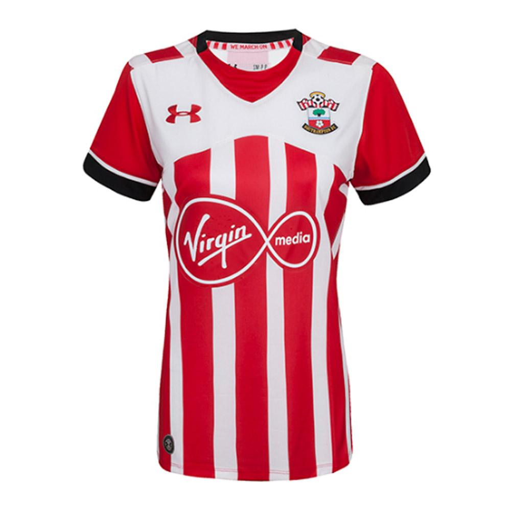 Southampton fc womens football shirt under armour home red for Under armor football shirts