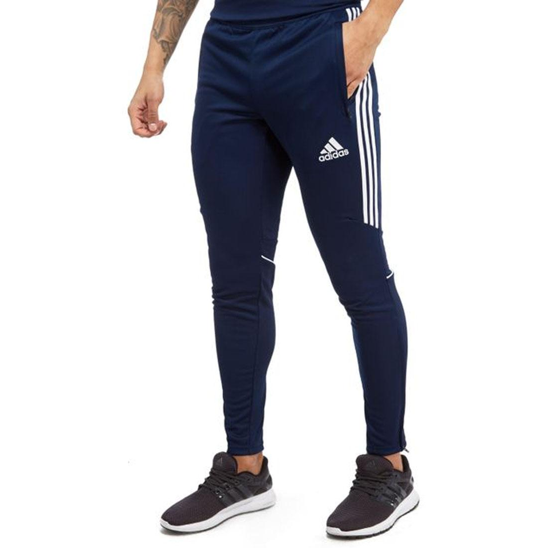 628f340bcdd4 adidas Tango Cage Tracksuit Bottoms Mens Dark Blue Slim Fit Track Pants  Large