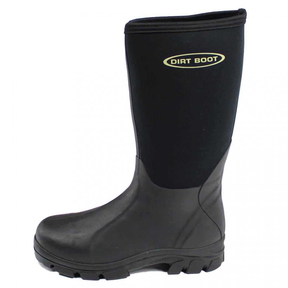 Dirt boot neoprene wellington muck field fishing boots for Best fishing boots