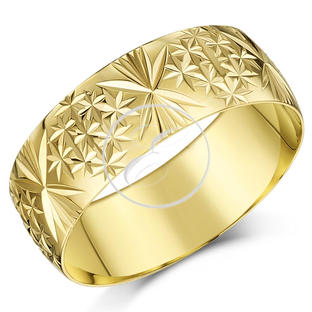Gents 9ct Yellow Gold Court Shape Light Weight Wedding Ring in sizes Q-Z+4