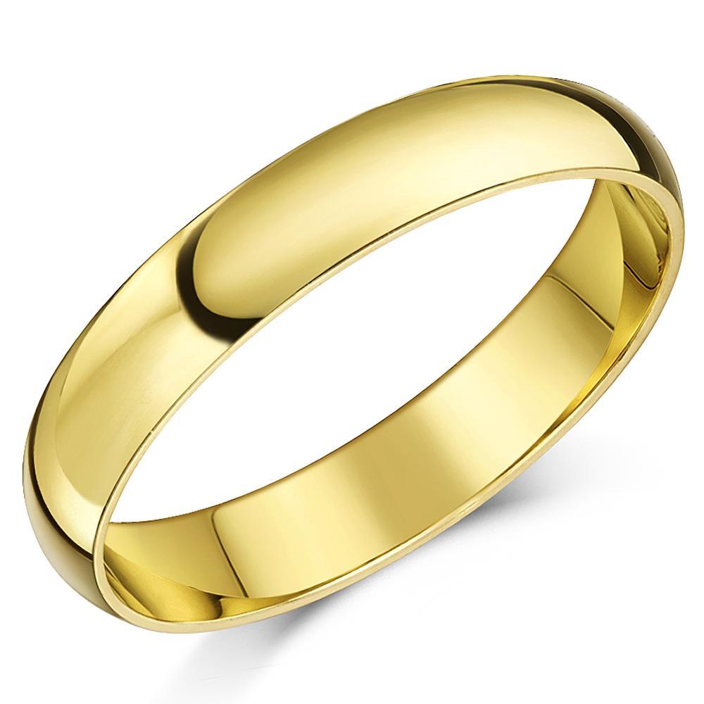 9 karat gelbgold ring geringes gewicht d f rmiger ehering. Black Bedroom Furniture Sets. Home Design Ideas