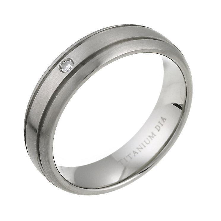 6mm Grooved Titanium Court shape wedding ring Band