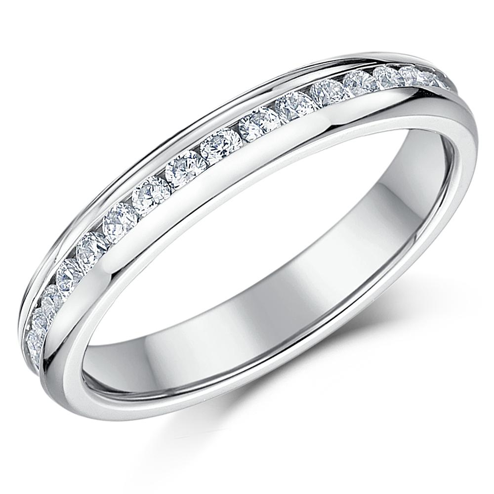 Two Stone Cubic Zirconia White Gold Rings Uk