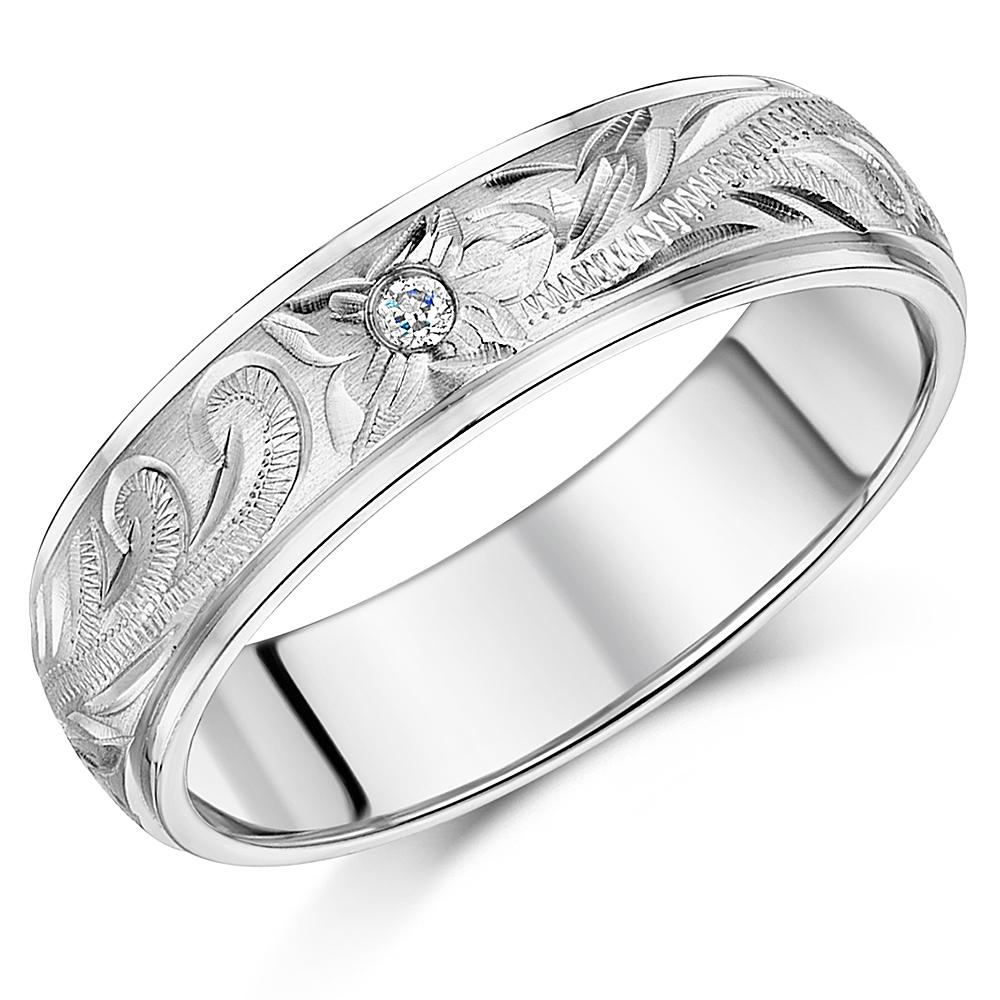 his her 39 s couple titanium wedding rings hand engraved cz. Black Bedroom Furniture Sets. Home Design Ideas