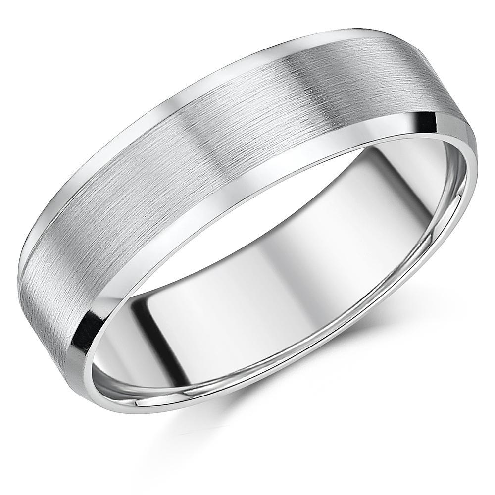 Ladies Engagement Ring 5mm Titanium Diamond Wedding Band Matt /&Polished Unisex