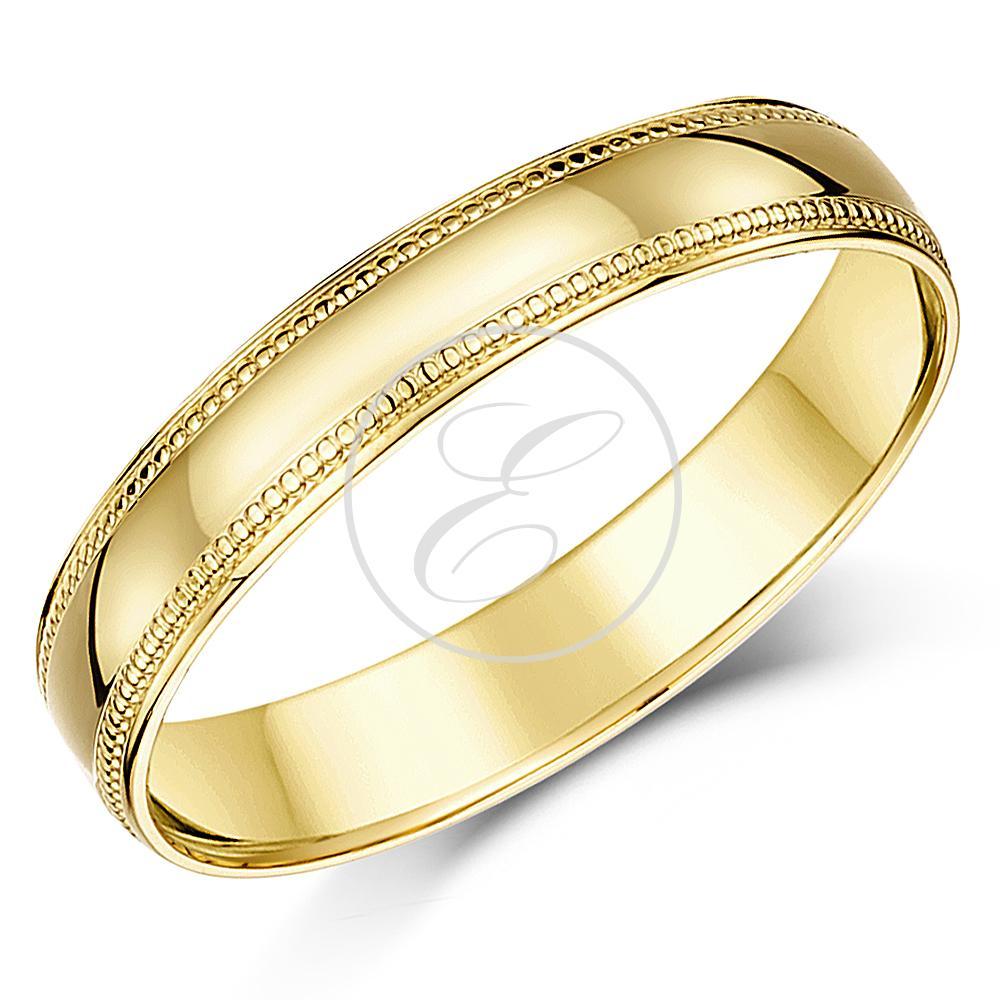 18 karat gelbgold ring schweres gewicht d form milgrain. Black Bedroom Furniture Sets. Home Design Ideas