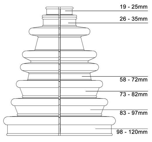 Universal Split CV Drive Shaft Boot Kit By Bailcast CVS18 No Dismantling Needed