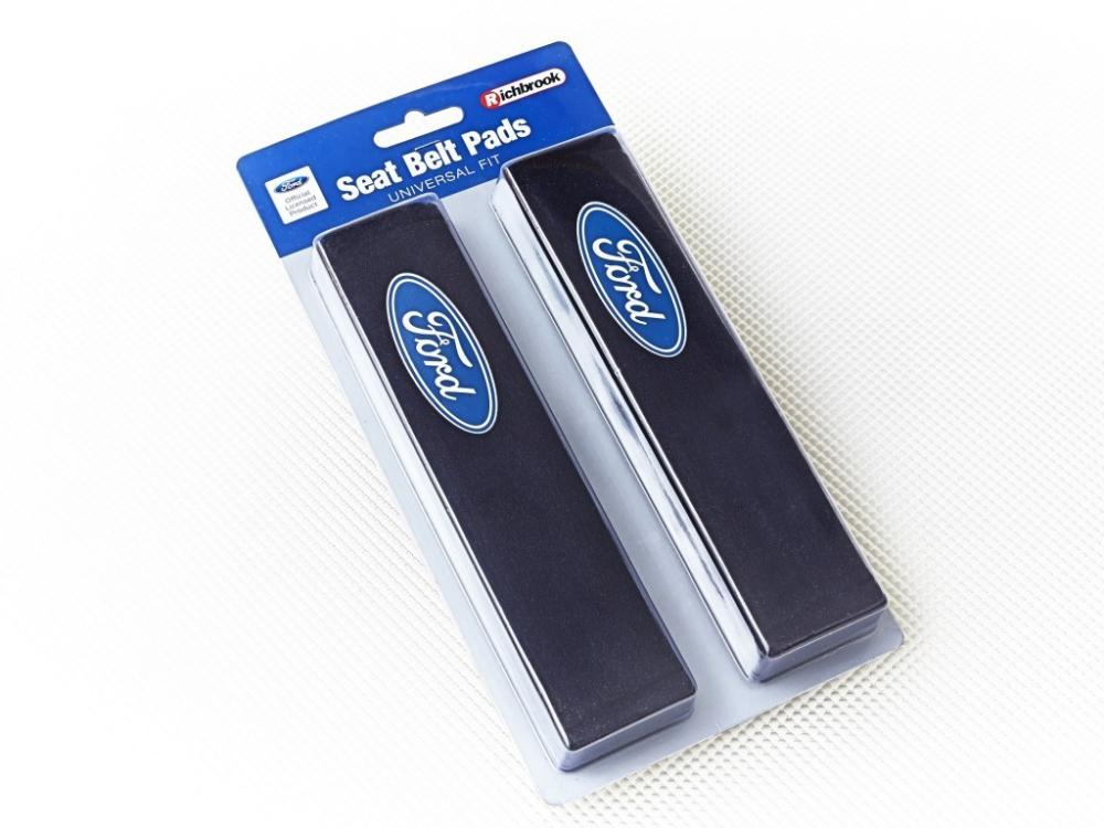 Ford Fiesta Car Seatbelt Pads Covers Black Fabric With