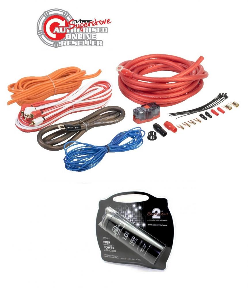 Car Audio Wiring Kits Library Gauge Amplifier Kit Amp 8g Installation Install Vibe Cl4awk 4 And Connects2 1 Farad Power Cap