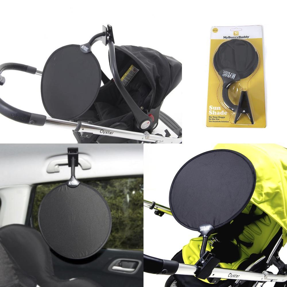 My Buggy Buddy Universal Easy Clip On Sun Shade Uv 50 For Pushchair Car Ebay