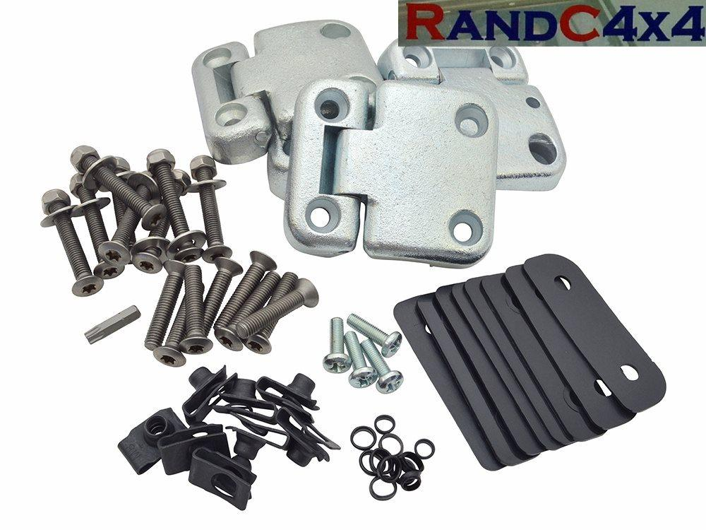 1070ss Landrover Series 3 Front Door Hinge Heavy Duty Kit