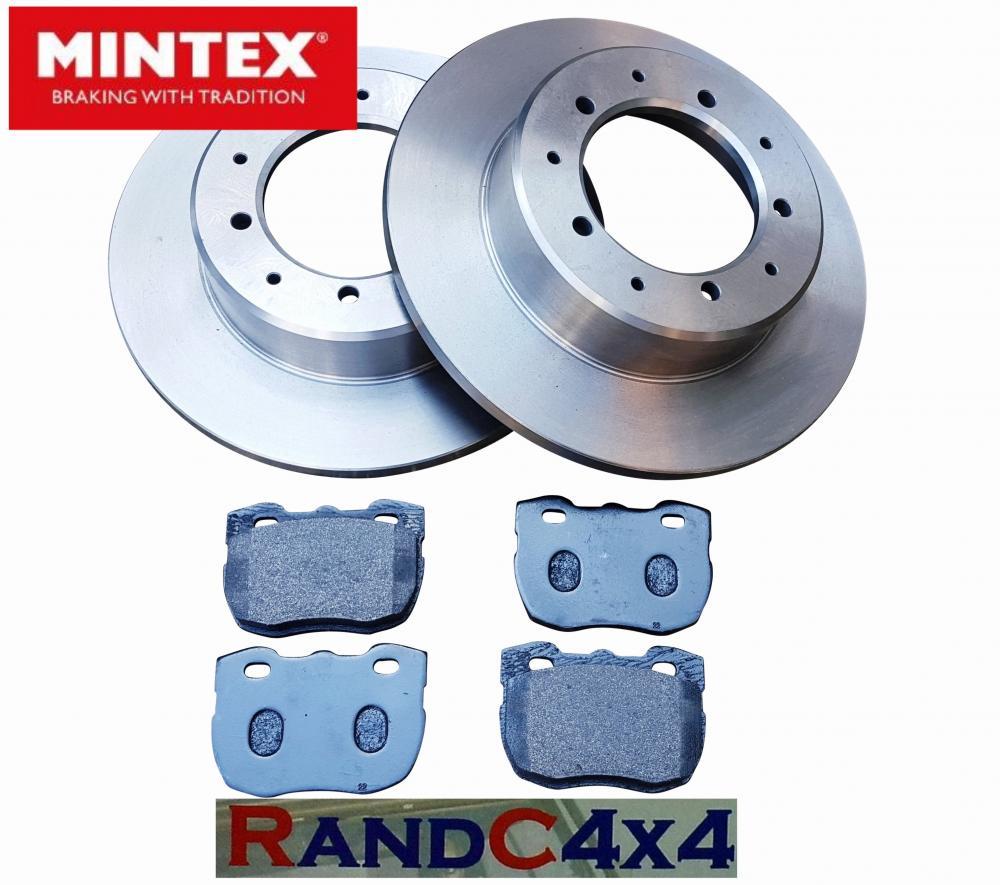 Land Rover Defender Front /& Rear Brake Discs /& MINTEX Brake Pads 300tdi V8 TDCi