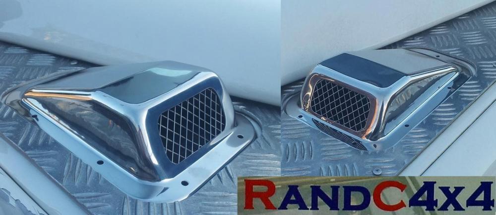 Land Rover Defender Lufteinlass Kühlergrill Set mit Zwei Rh /& Edelstahl