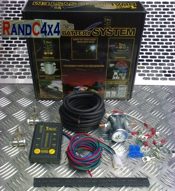 6mtr Split Charge Relay Kit 12v 140amp M-Power Intelligent Voltage Sense Relay