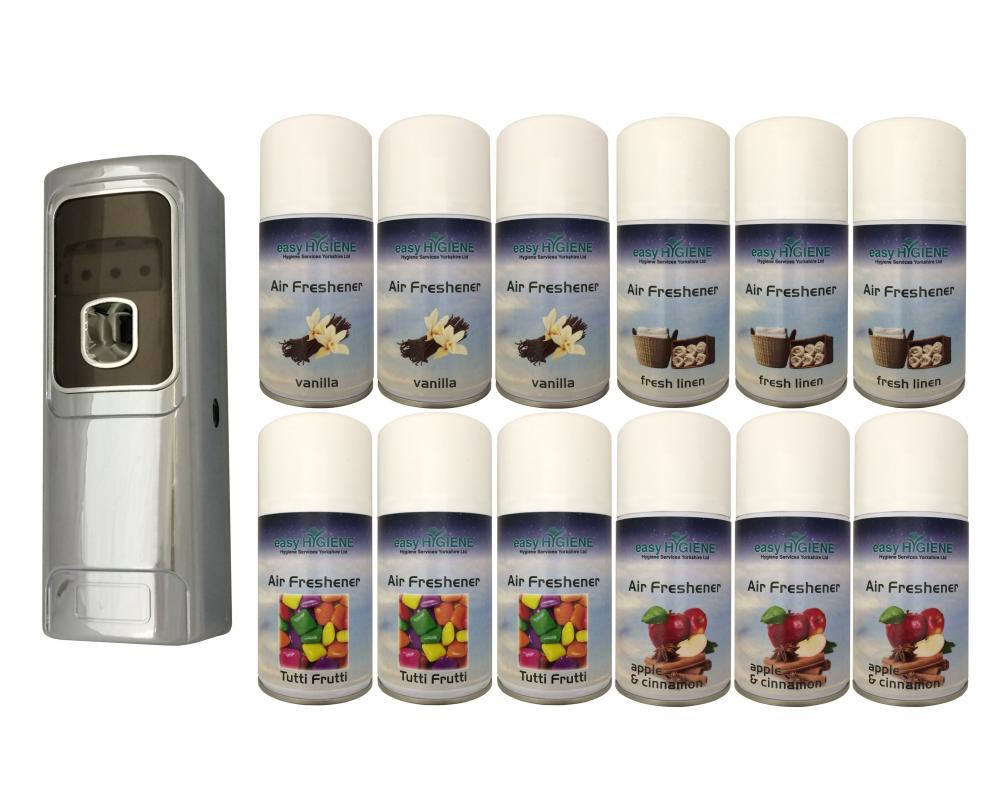 Exec Chrome Automatic Air Freshener Dispenser Wall Mounted