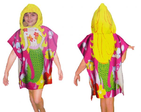 kinder poncho schwimmend kapuzentuch handt cher shark. Black Bedroom Furniture Sets. Home Design Ideas